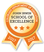 John Irwin School of Excellence Ribbon